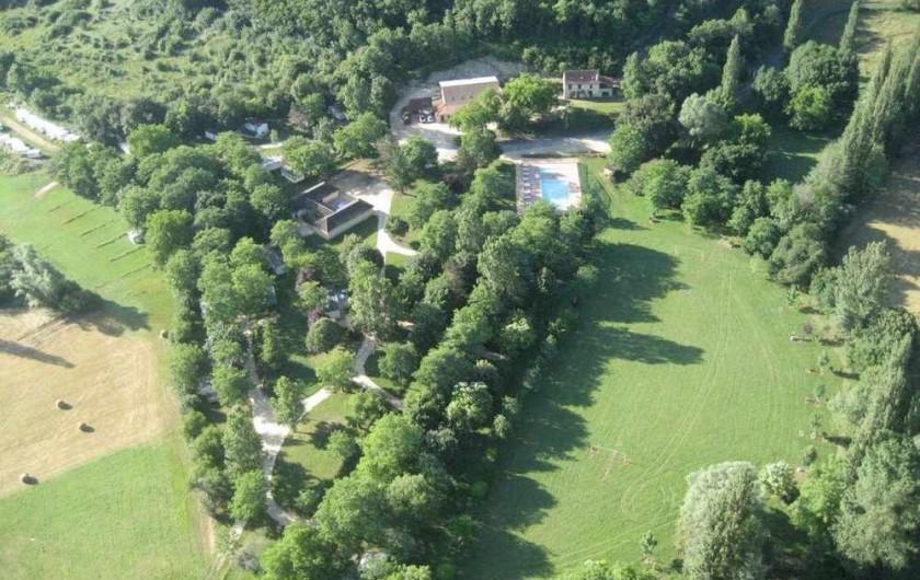 Location de vacances - Camping à Saint-Pompont - VUE AERIENNE