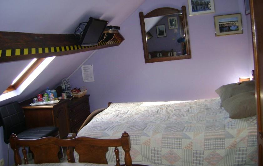 Location de vacances - Chambre d'hôtes à Trivières - LIT 2 PERSONNES CHAMBRE FLORENCE