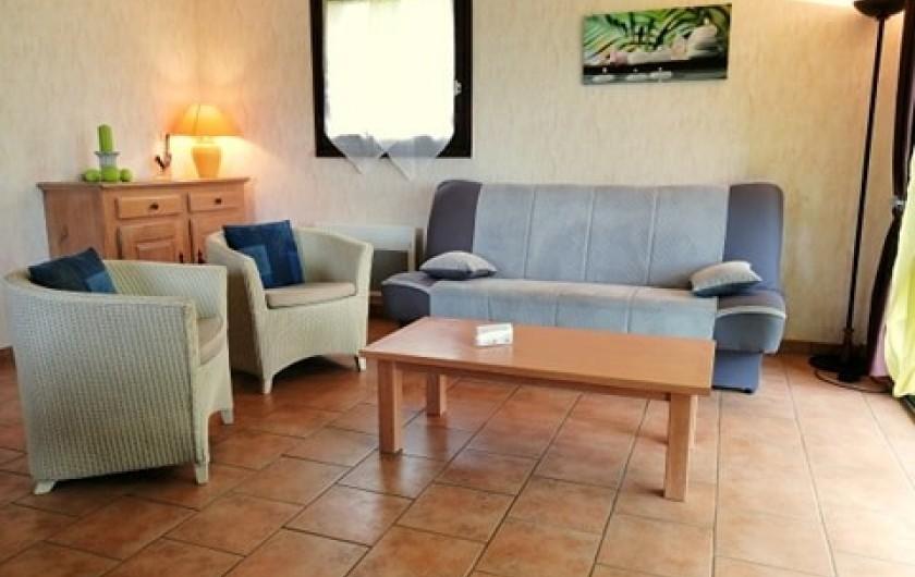 Location de vacances - Gîte à Valette - Salon du gite le Sumène