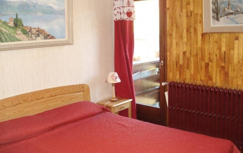 Location de vacances - Appartement à Le Lavachet - Chambre à un grand lit de 160