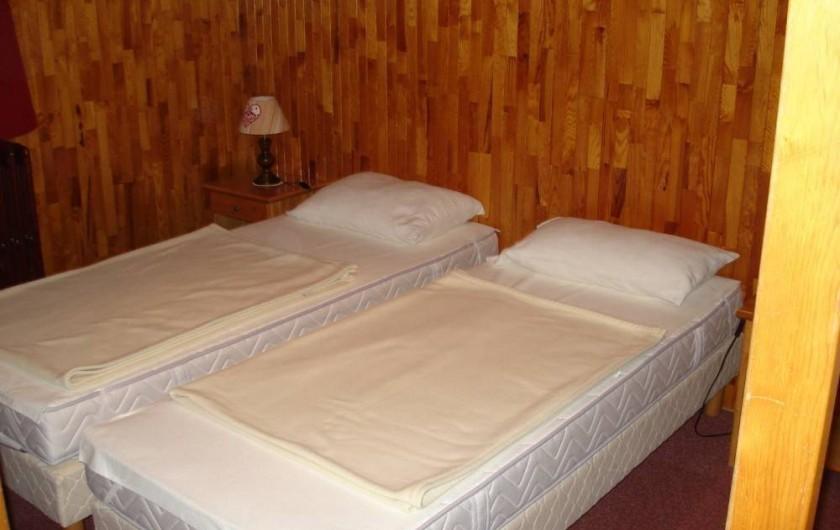 Location de vacances - Appartement à Le Lavachet - Chambre à deux lits de 80 et.....