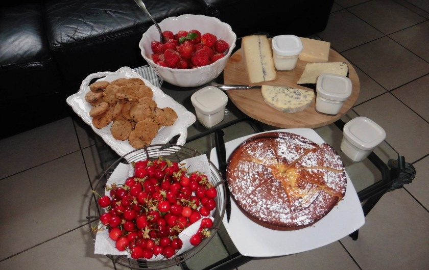 Location de vacances - Chambre d'hôtes à Entrechaux - Les petits déjeuners gourmands.