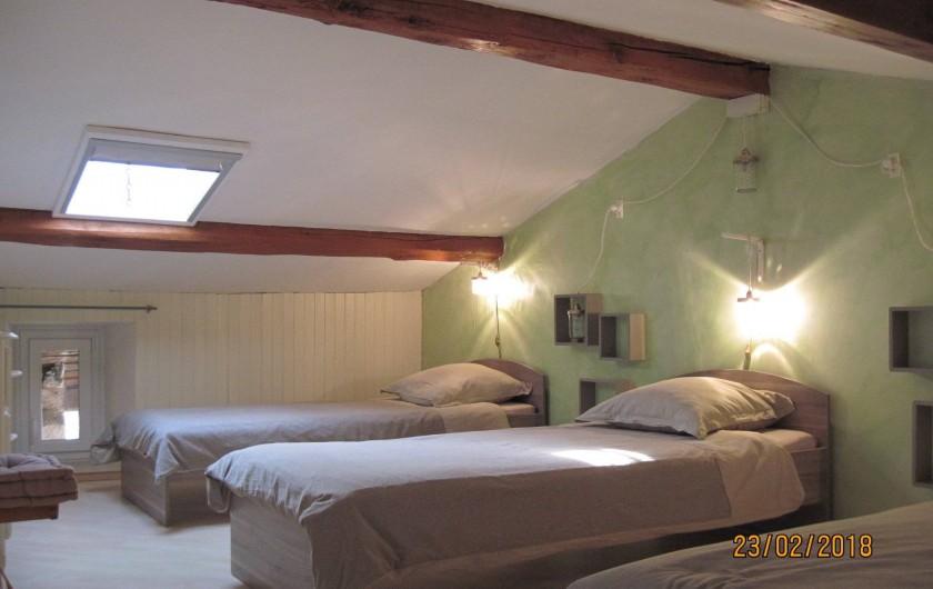 Location de vacances - Chambre d'hôtes à Pélussin - la chambre côté enfants avec 3 lits