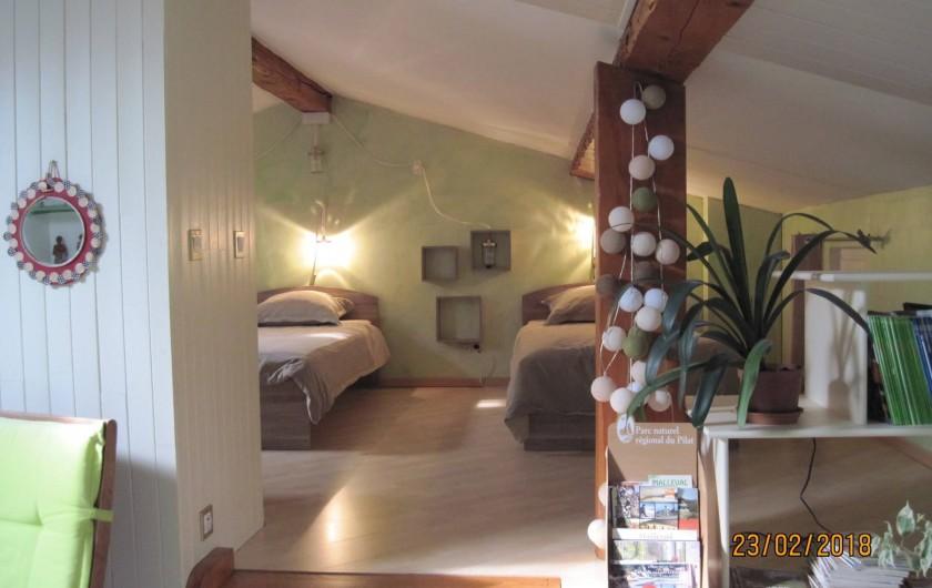 Location de vacances - Chambre d'hôtes à Pélussin - vue d'ensemble de la chambre
