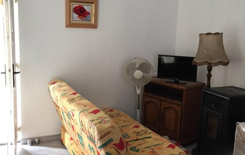 Location de vacances - Chalet à Talmont-Saint-Hilaire - Coin salon et télévision