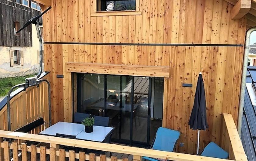 Location de vacances - Chalet à Morillon - Terrasse