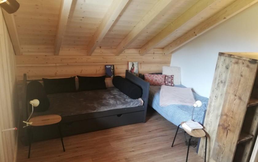 Location de vacances - Chalet à Morillon - Chambre 2 (deux lits 1 pers)
