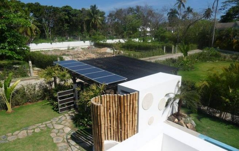Location de vacances - Villa à Las Terrenas - vue terrasse