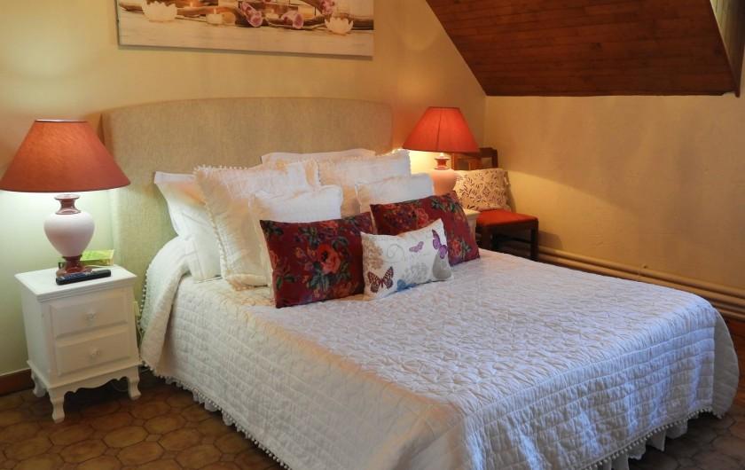 Location de vacances - Château - Manoir à Aubigné-Racan - Chambre Tilleul