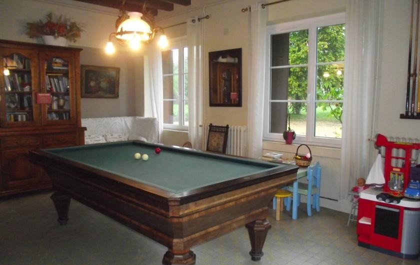 Location de vacances - Château - Manoir à Aubigné-Racan - Salle de jeux