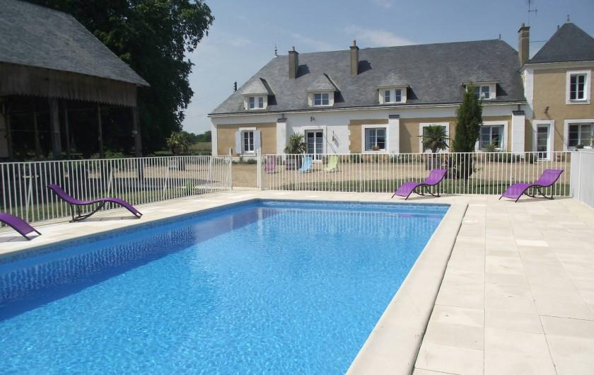Location de vacances - Château - Manoir à Aubigné-Racan - Piscine privée Clôturée et sécurisée