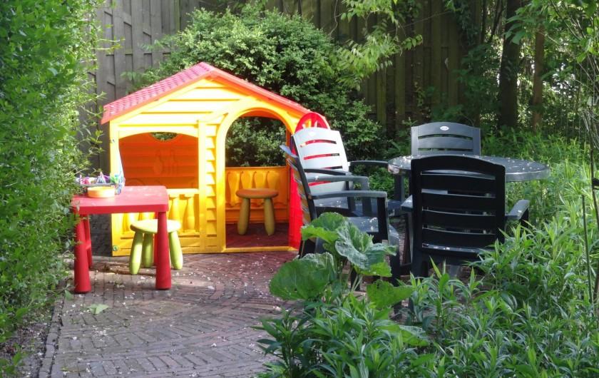 Location de vacances - Maison - Villa à Nieuwvliet - jardin, terrasse,  maison pour enfant, abri pour vélos, barbecue