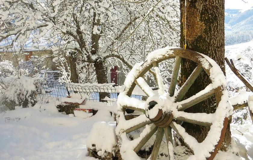 Location de vacances - Gîte à Comus - paysage d hiver