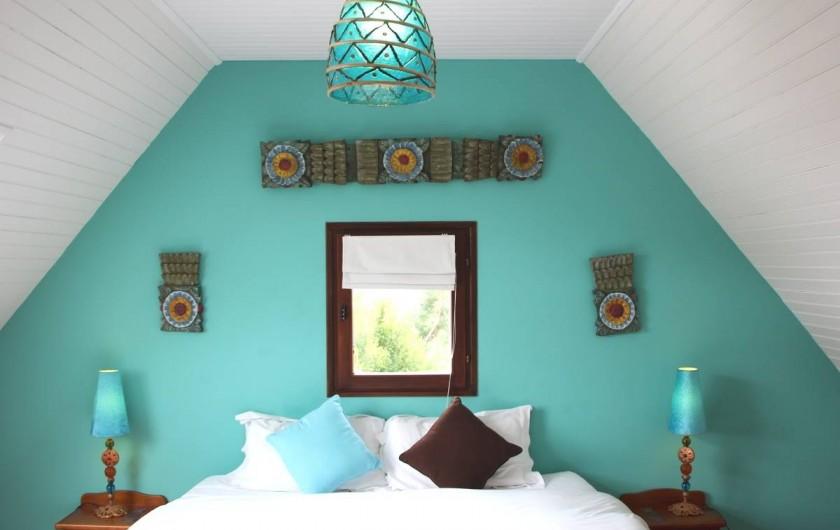Location de vacances - Chambre d'hôtes à Île-aux-Moines - MOOREA Lit double en 180 séparable