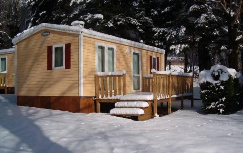 Location de vacances - Camping à La Bourboule - Mobil-Home 28 m² 2 ch