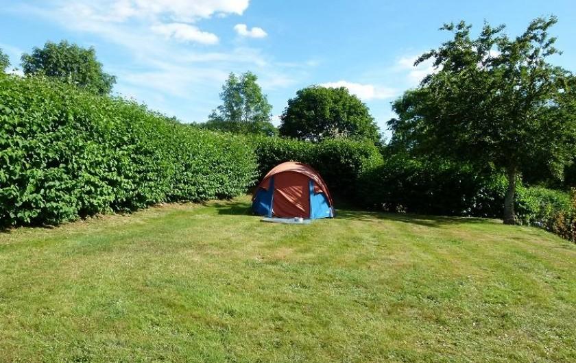 Location de vacances - Insolite à La Châtre - Emplacements tente, avec ou sans électricité