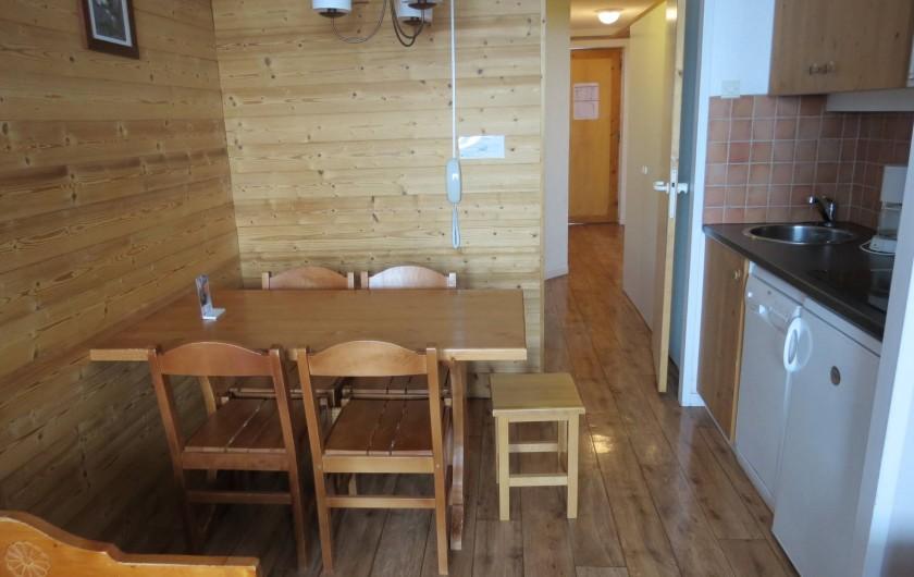 Location de vacances - Appartement à Belle Plagne - COIN REPAS