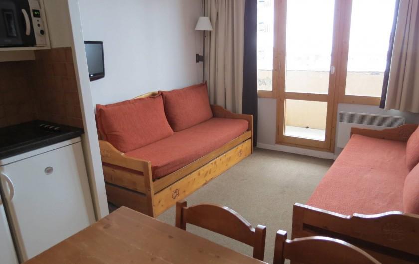 Location de vacances - Appartement à Belle Plagne - COIN SALON