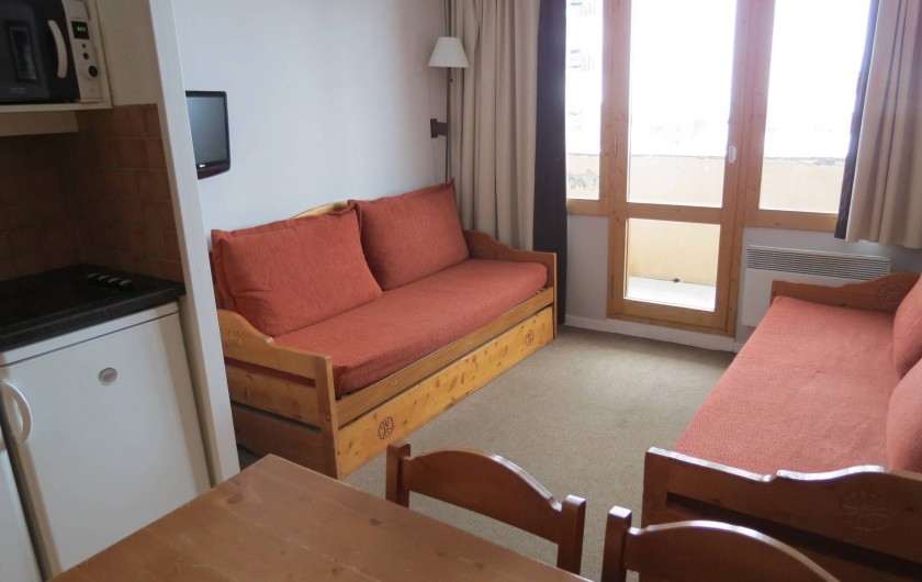 Location de vacances - Appartement à Belle Plagne - COIN SALON