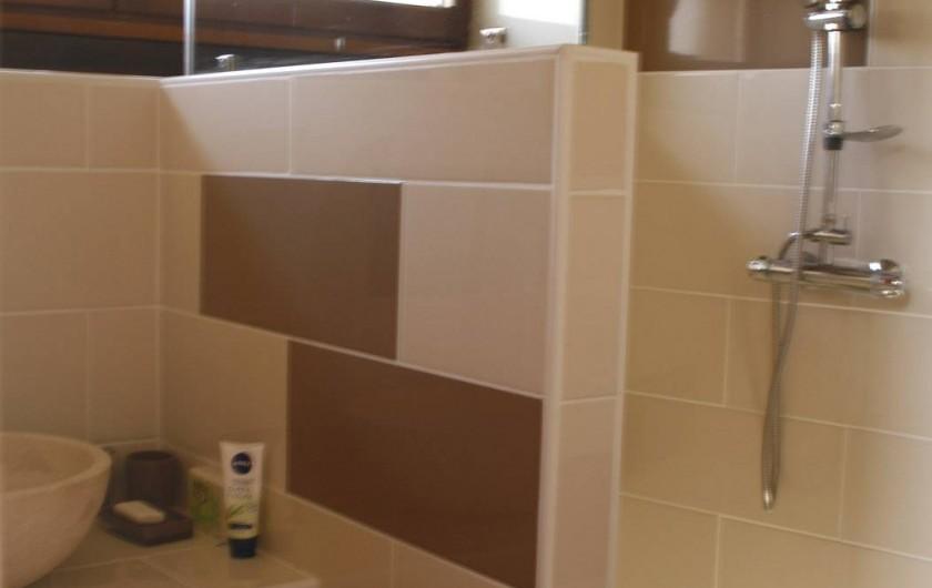 Location de vacances - Gîte à Marvejols - Salle de bain  avec lavabo et douche à l'italienne