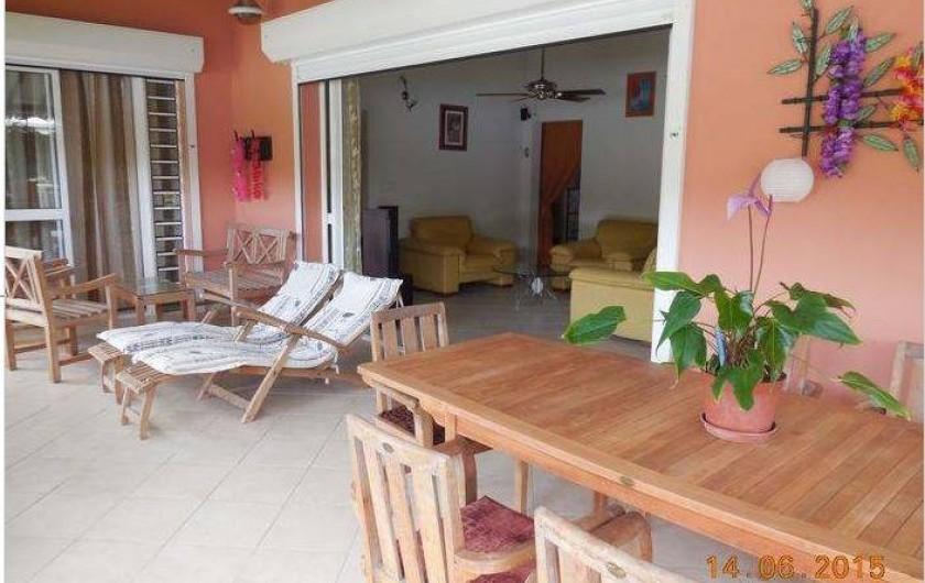 Location de vacances - Villa à Le Marin - vue 3 terrasse