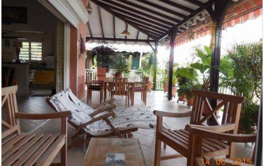Location de vacances - Villa à Le Marin - vue 1 terrasse