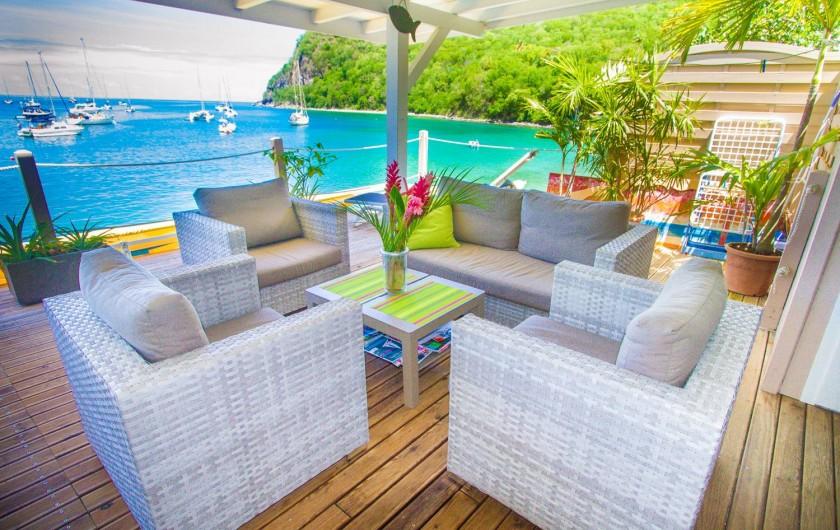 Location de vacances - Appartement à Deshaies - Salon