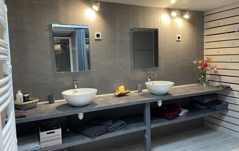 Location de vacances - Villa à Écollemont - Quatrième salle de bain, 2 vasques, 2 douches
