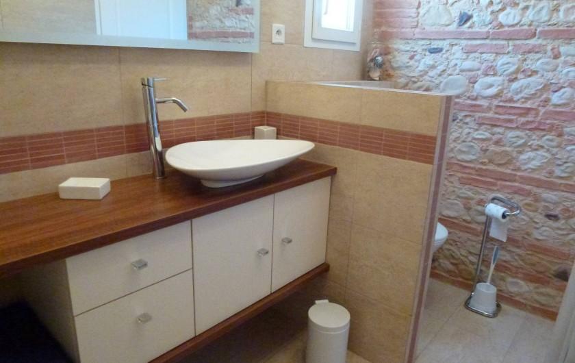 Location de vacances - Villa à La Palme - vasque et wc dans la salle d'eau