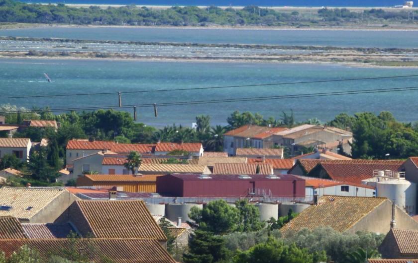 Location de vacances - Villa à La Palme - vue sur le village