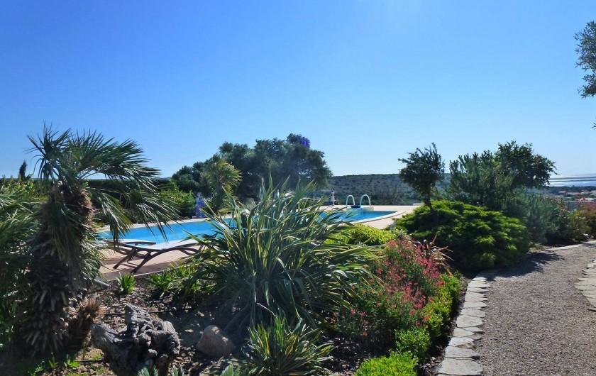Location de vacances - Villa à La Palme - la piscine et le jardin