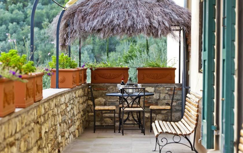Location de vacances - Villa à San Donato In Collina - Terrasse ouverte avec vue panoramique