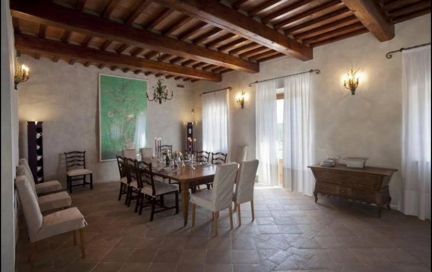 Location de vacances - Villa à San Donato In Collina - Salle à manger