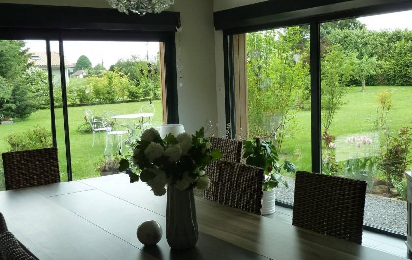 Location de vacances - Chambre d'hôtes à Rouvres-en-Woëvre - Côté salle ) manger dedans