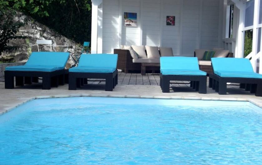 Location de vacances - Villa à Le Diamant - Carbet et piscine