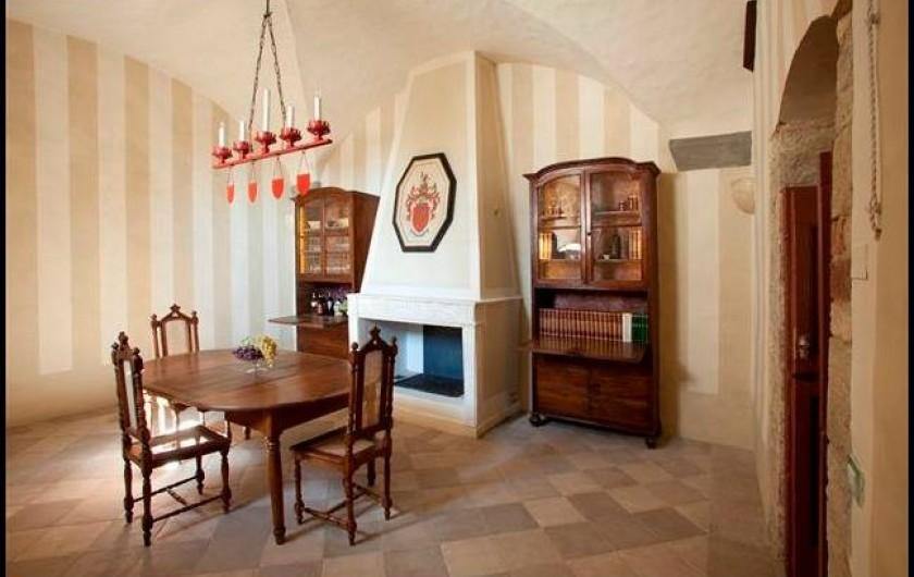 Location de vacances - Villa à San Donato In Collina - Salle de dégustation (devenue depuis salle de billiard)
