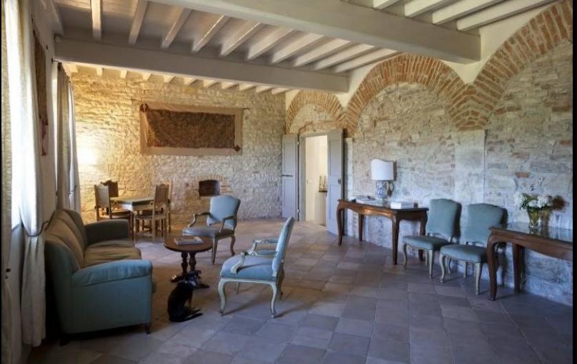 Location de vacances - Villa à San Donato In Collina - Salon TV Rez de Chaussé