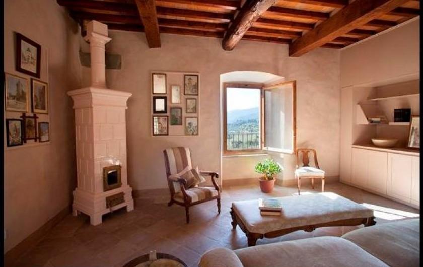 Location de vacances - Villa à San Donato In Collina - salon TV dans la Tour
