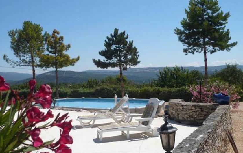 Location de vacances - Chambre d'hôtes à Apt - terrasse piscine 170m2