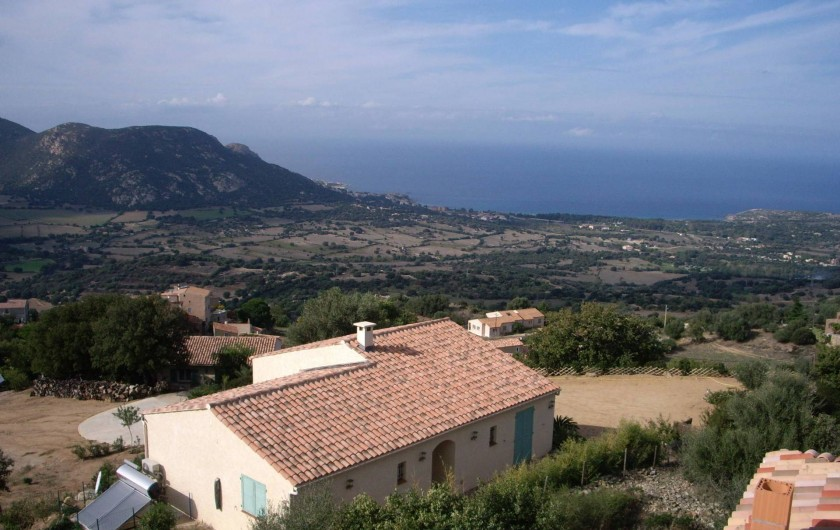 Location de vacances - Villa à Aregno - vue maison