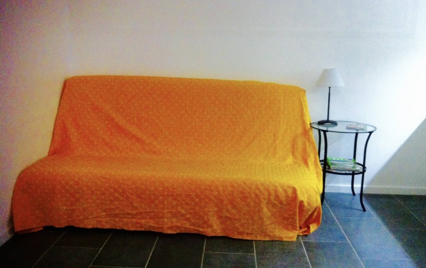 Location de vacances - Studio à Aix-en-Provence - Canapé 2 personnes confortable, fabrication française et matelas  de qualité.