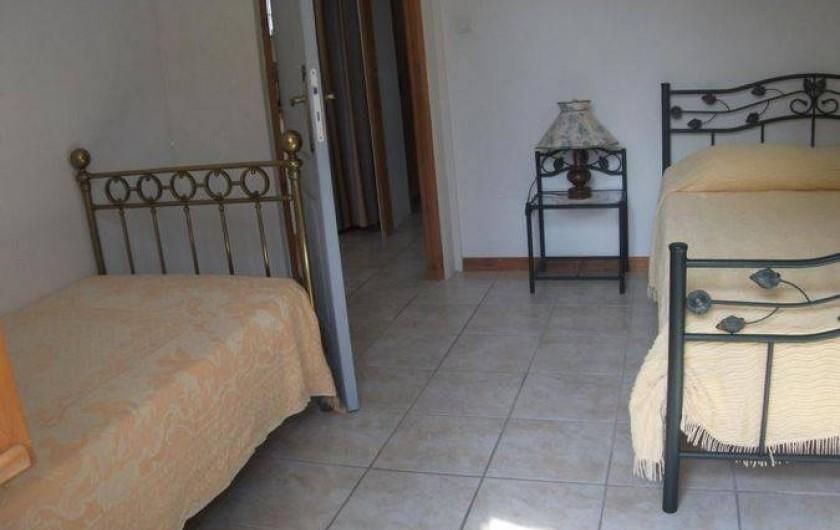 Location de vacances - Gîte à Lue - la chambre de l'autre logement