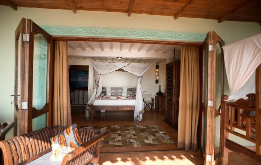 Location de vacances - Villa à Zanzibar - L'une des chambres du 1er étage , depuis sa terrace !