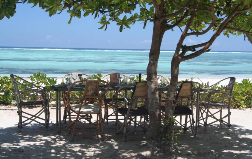 """Location de vacances - Villa à Zanzibar - Notre coin  """" lunch & BBQ """" avec une vue imprenable !"""