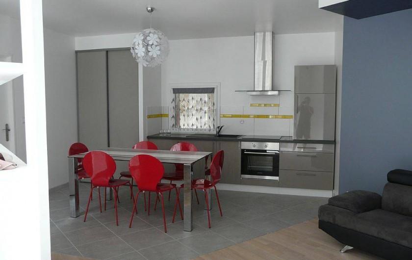 Location de vacances - Appartement à Saint-Malo - four, micro-ondes, frigo case congel lave vaisselle lave linge