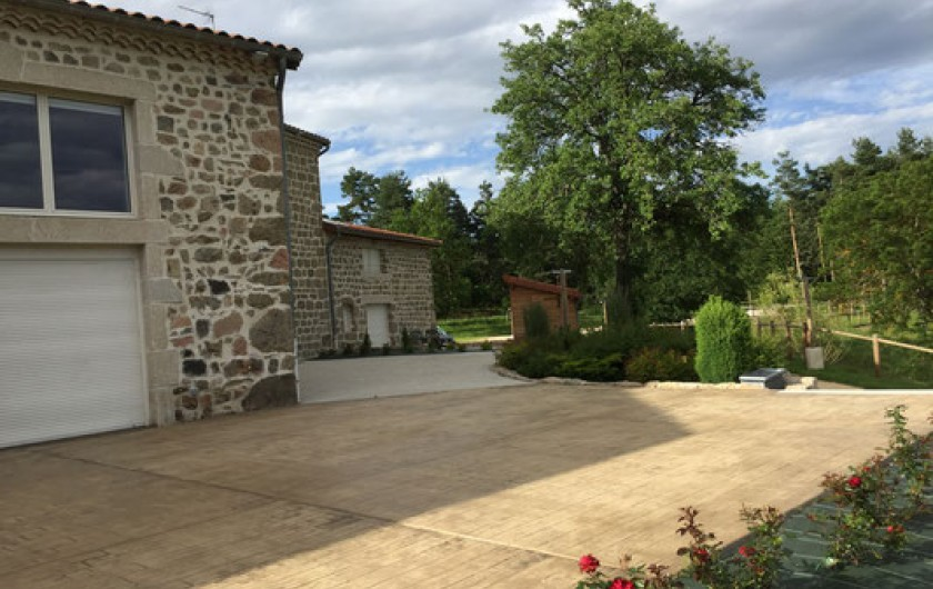 Location de vacances - Gîte à Monistrol-sur-Loire - terrasse de repos