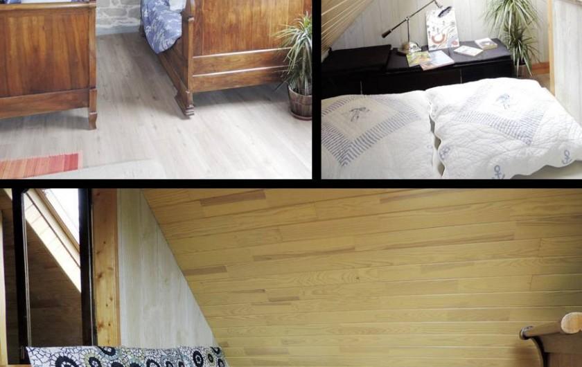 Location de vacances - Gîte à Saint-Jean-Trolimon - Chambre 2 = 3 lits (1pers)