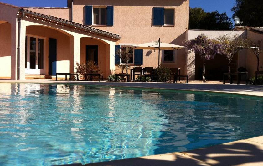 Location de vacances - Maison - Villa à Allemagne-en-Provence - maison et piscine