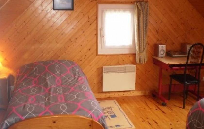 Location de vacances - Maison - Villa à Plouider - chambre 3    2 lit de 90x190