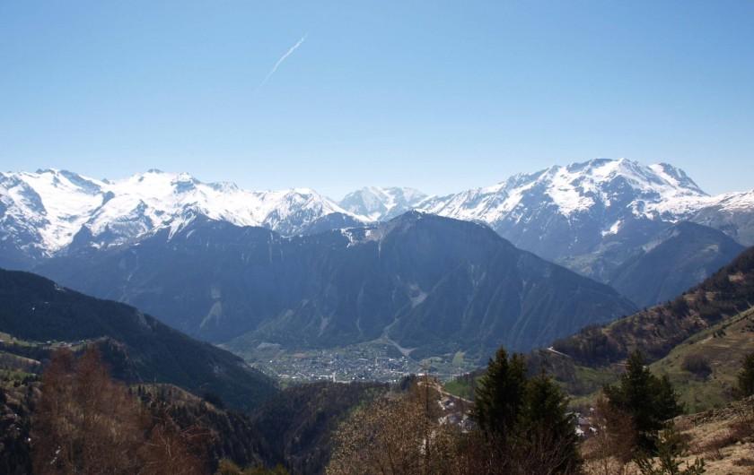 Location de vacances - Studio à L'Alpe d'Huez - Vue du Balcon